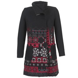 Clothing Women coats Desigual JEFINITE Black / Red