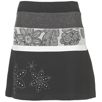 Clothing Women Skirts Desigual REVUNE Black / Grey