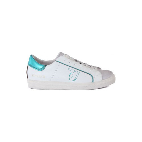 Shoes Women Low top trainers Trussardi LEATHER Multicolore