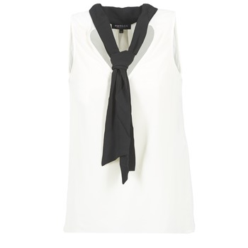 Clothing Women Tops / Blouses Morgan OREA White / Black