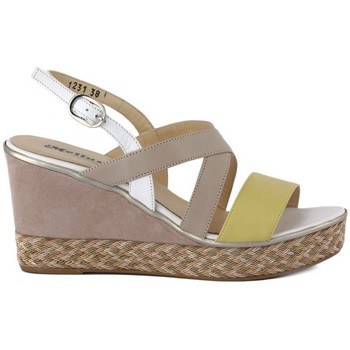 Shoes Women Sandals Melluso SANDALO WALK Beige