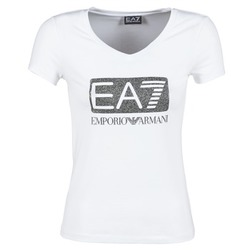 Clothing Women short-sleeved t-shirts Emporio Armani EA7 FOUNAROLA White