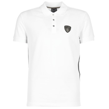 Emporio Armani EA7  ONTRAFOL  mens Polo shirt in white
