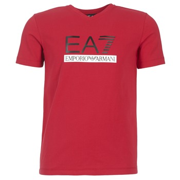 Clothing Men short-sleeved t-shirts Emporio Armani EA7 MOFRAGO Red