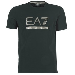 Clothing Men short-sleeved t-shirts Emporio Armani EA7 MAGGAROL Black
