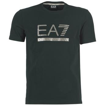 Clothing Men short-sleeved t-shirts Emporio Armani EA7 MAGGAROL Black