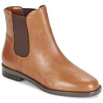 Shoes Women Mid boots Ralph Lauren BELVA Cognac