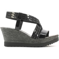 Shoes Women Sandals Grace Shoes 19215 Wedge sandals Women Black Black
