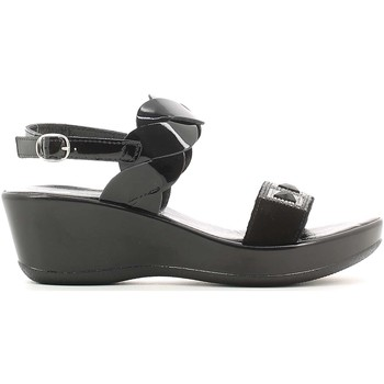 Shoes Women Sandals Susimoda 256638 Wedge sandals Women Black Black