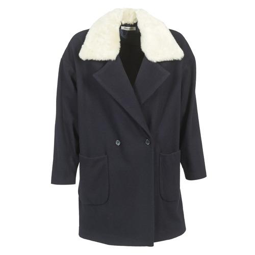 Clothing Women Coats Naf Naf AVINA Marine