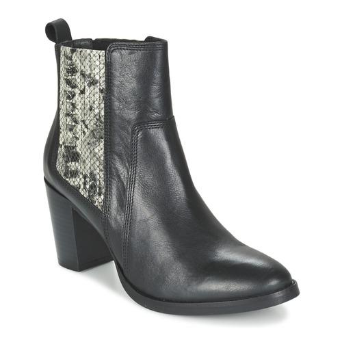 Shoes Women Ankle boots Betty London FLARA Black / Python