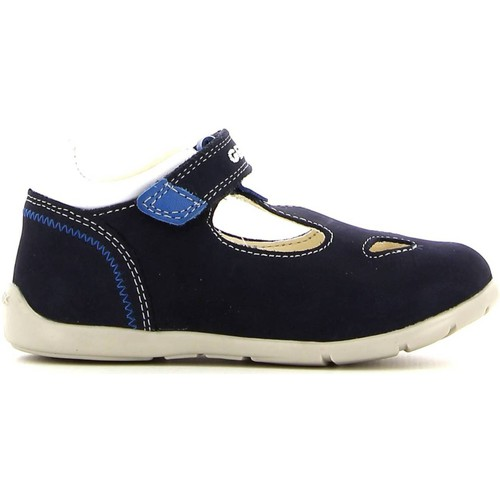 Shoes Girl Flat shoes Geox B6250A 03285 Ankle Kid Blue Blue