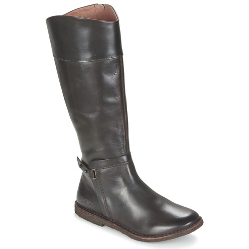 Shoes Women High boots Kickers CRICK Brown / Dark