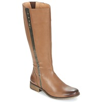 Shoes Women High boots Kickers LONGBOTTE Brown / Gold
