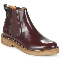 Shoes Women Mid boots Kickers OXFORDCHIC Bordeaux