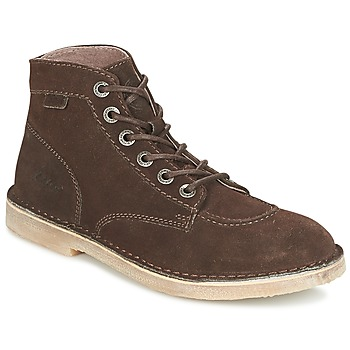 Shoes Men Mid boots Kickers ORILEGEND Brown / Dark