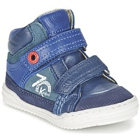Shoes Boy Hi top trainers Kickers JINJINU Blue
