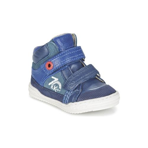 Shoes Boy Hi top trainers Kickers JINJINU Blue