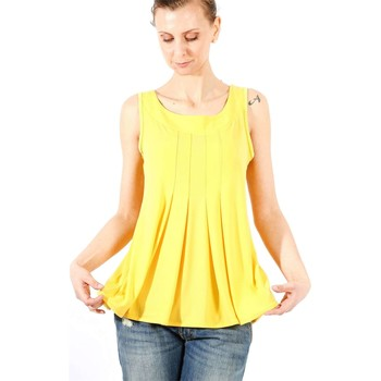 Clothing Women Tops / Blouses Gazel AB.MA.SM.0008 Canotta Women Yellow Yellow