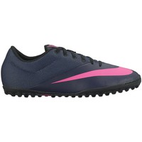 Shoes Men Football shoes Nike Mercurialx Pro Pink-Navy blue