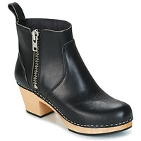 Shoes Women Ankle boots Swedish hasbeens ZIP IT EMY Black