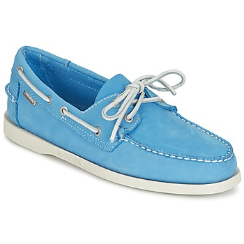 Shoes Men Loafers Sebago DOCKSIDES AQUA / BLUE