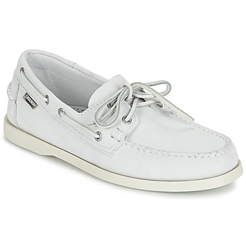 Shoes Men Loafers Sebago DOCKSIDES White / Nubuck