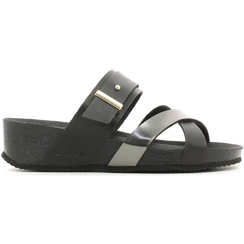 Shoes Women Mules Grunland CB0595 Sandals Women Black Black