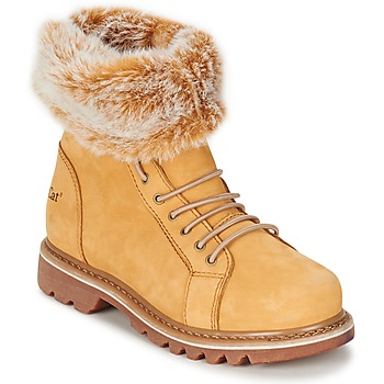 Shoes Women Mid boots Caterpillar DUELIST Beige / Honey