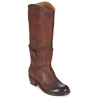 Shoes Women High boots Dkode INDIANA Brown / Dark