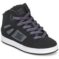 Shoes Children Hi top trainers DC Shoes REBOUND WNT Black / Charcoal