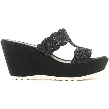 Shoes Women Clogs Grace Shoes 80GLITT Wedge sandals Women Black Black