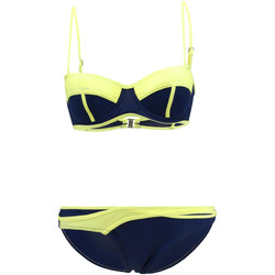 Clothing Women Bikinis Les P'tites Bombes 2-Piece Swimsuit  Bandeau 009 Blue and Yellow 0000-00-00 00:00:00