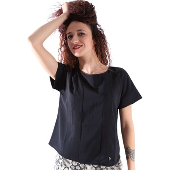 Clothing Women short-sleeved t-shirts Animagemella 16PE027 T-shirt Women Black Black