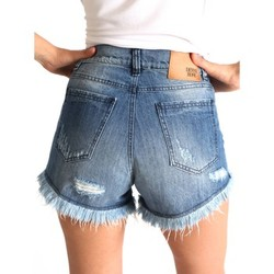 Clothing Women Shorts / Bermudas Denny Rose 63DR22012 Shorts Women Blu