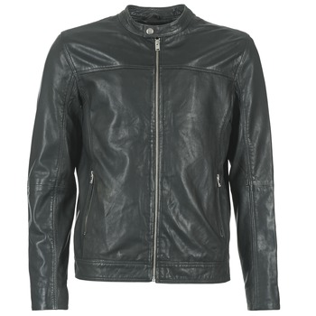 Clothing Men Leather jackets / Imitation leather Selected BIRMINGHAM Black