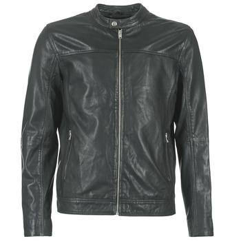 Clothing Men Leather jackets / Imitation leather Selected BIRMINGHAM Black