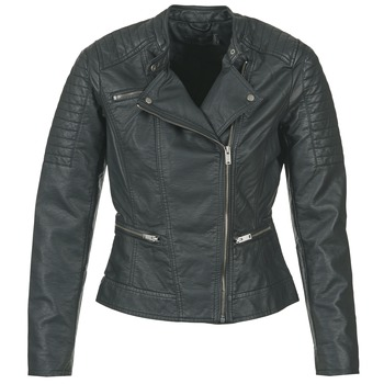 Clothing Women Leather jackets / Imitation leather Only NEW START Black