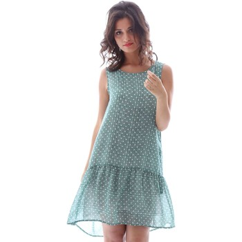 Clothing Women Short Dresses Gazel AB.AB.SM.0102 Dress Women Verde Verde