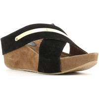 Shoes Women Sandals Le Chicche IF5723 Wedge sandals Women Black Black