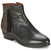 Shoes Women Mid boots Coqueterra PATRICE Crust /  BLACK / Caoba / Python / ANTHRACITE