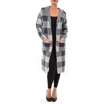 Clothing Women Jackets / Cardigans De Fil En Aiguille Cardigan long K100 gris Grey
