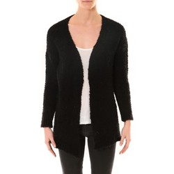 Clothing Women Jackets / Cardigans De Fil En Aiguille GILET ZINKA 1186 NOIR Black