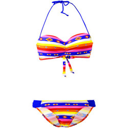 Clothing Women Bikinis Lolita Angel 2 Pieces Rio Sunny Smile Multicolor Bandeau Swimsuit MULTICOLOUR