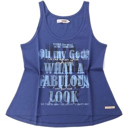 Clothing Women Tops / Sleeveless T-shirts Key Up S24G 0001 Canotta Women Blue Blue
