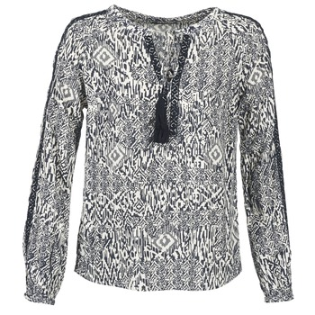 Clothing Women Tops / Blouses Vila VIETNO Grey / White