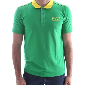 Emporio Armani EA7  273967 6P254 Polo Man  mens Polo shirt in green