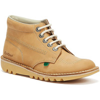 Shoes Women Mid boots Kickers Kick Hi Womens Tan / Natural Nubuck Boots Tan