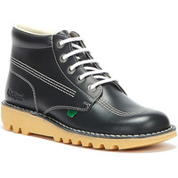Shoes Men Derby Shoes Kickers Mens Kick Hi Core Navy/Natural Leather Boots Navy