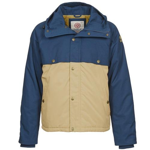 Clothing Men Parkas Franklin & Marshall JKMVA034 Blue / Beige